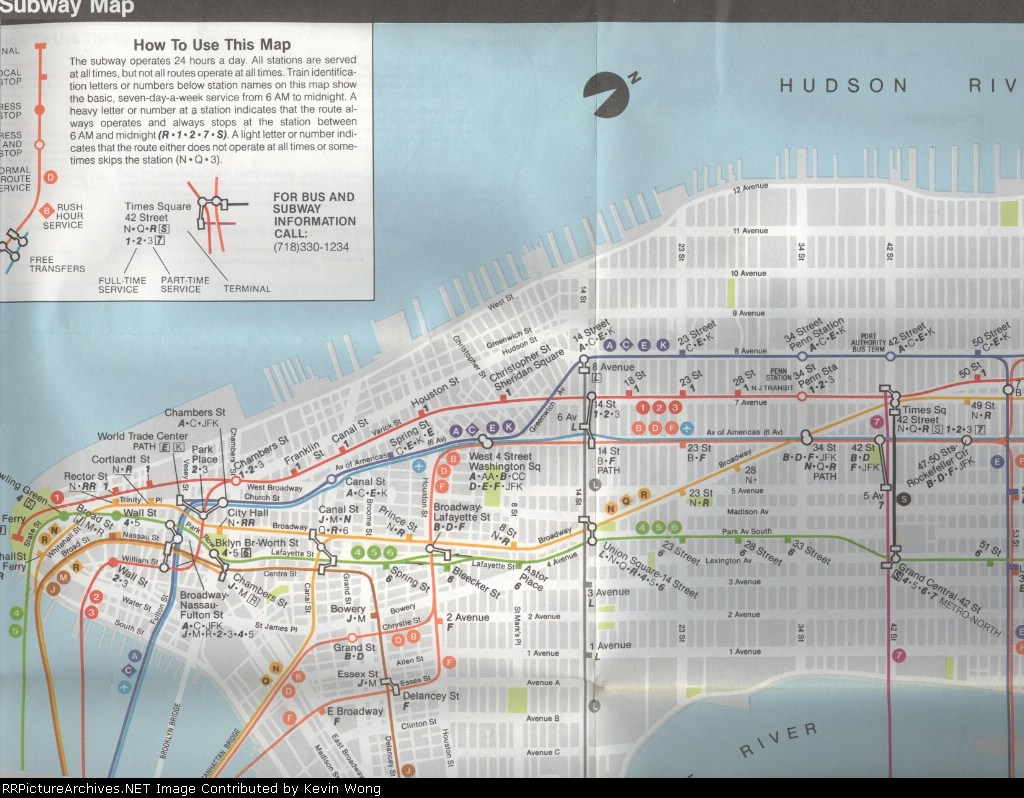 Subway Map Times Square.1985 Subway Map